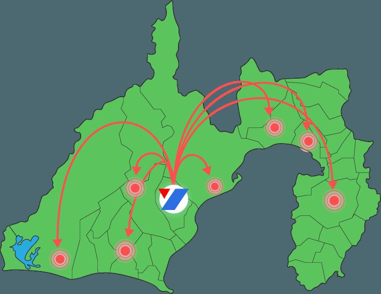 静岡県内全域対応可能です。